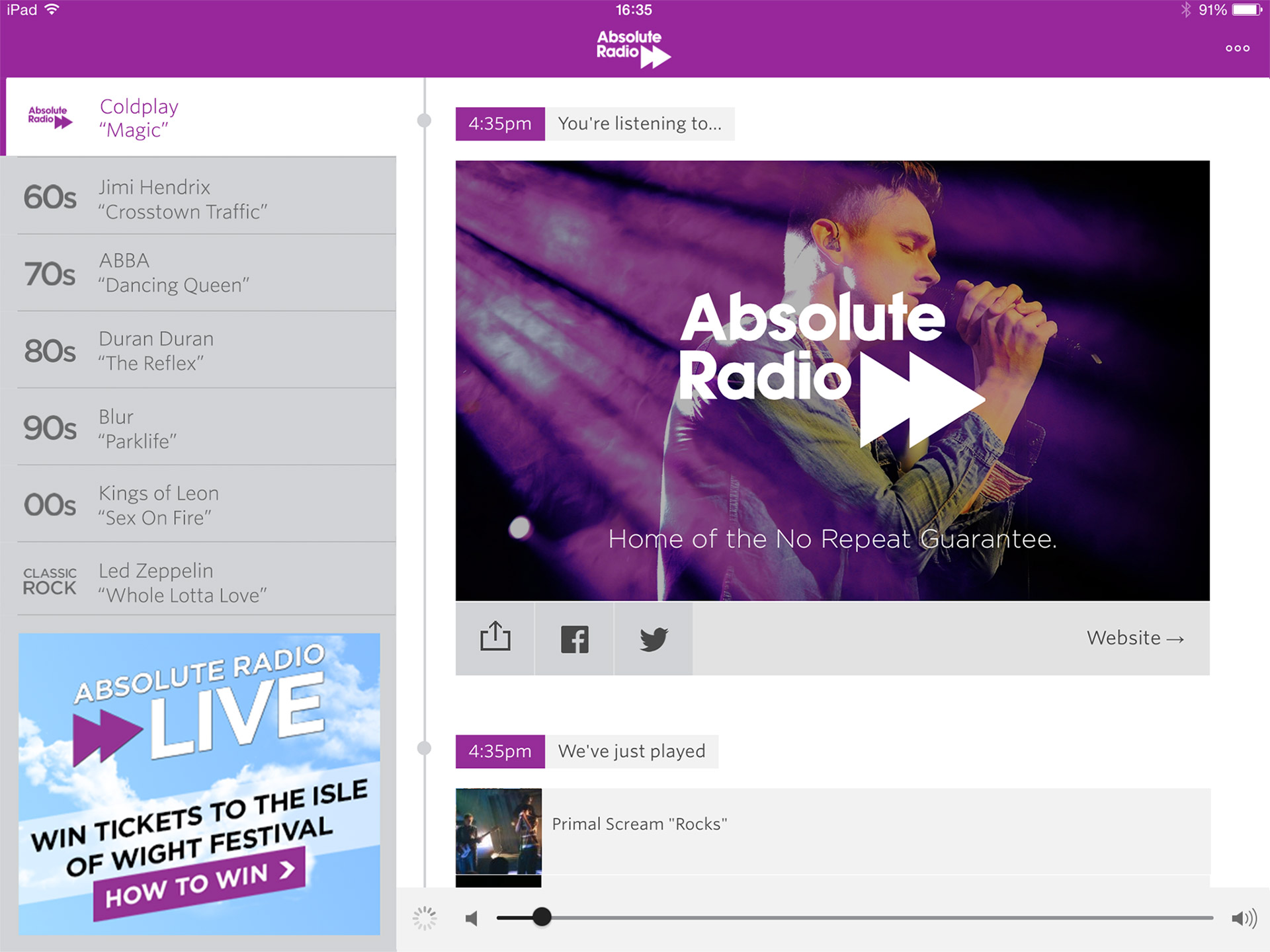 Absolute Radio Player case study   David Kenny is an award